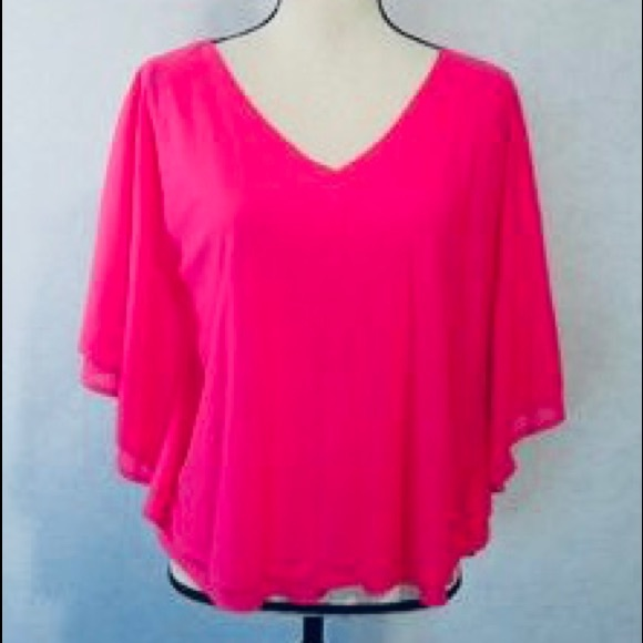 factory outlet clearance prices run shoes Jennifer Lopez Tops   Shocking Hot Pink Jlo Batwing Top   Poshmark